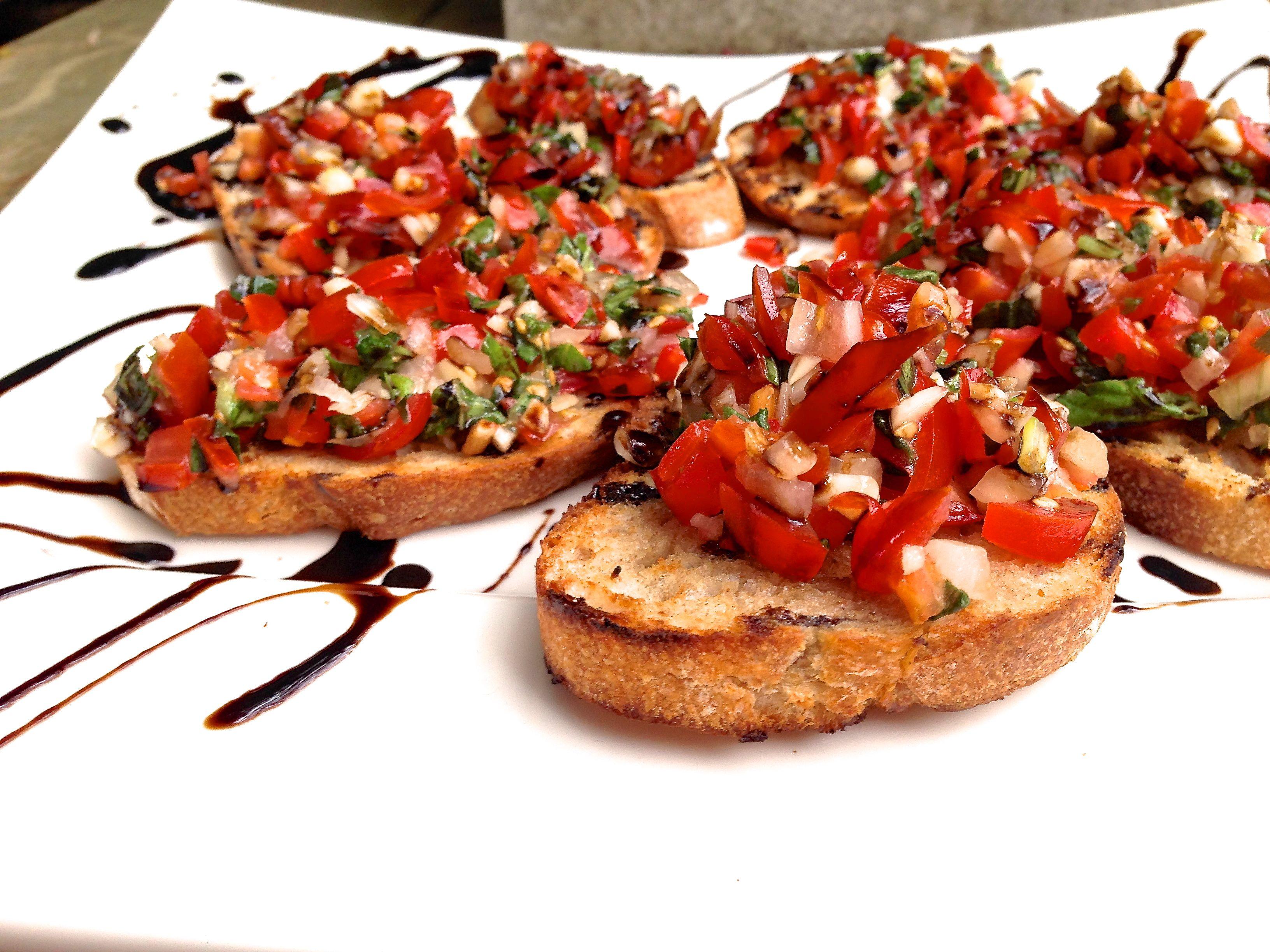 Fresh Bruschetta With Balsamic Reduction Gianna S Kitchen