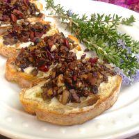 Mushroom Tapenade Toasts