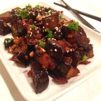 Sticky Szechwan Eggplant
