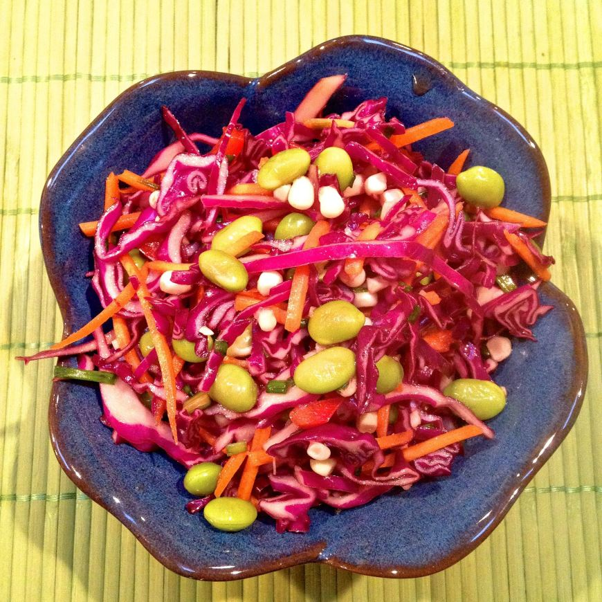rainbow crunch raw slaw