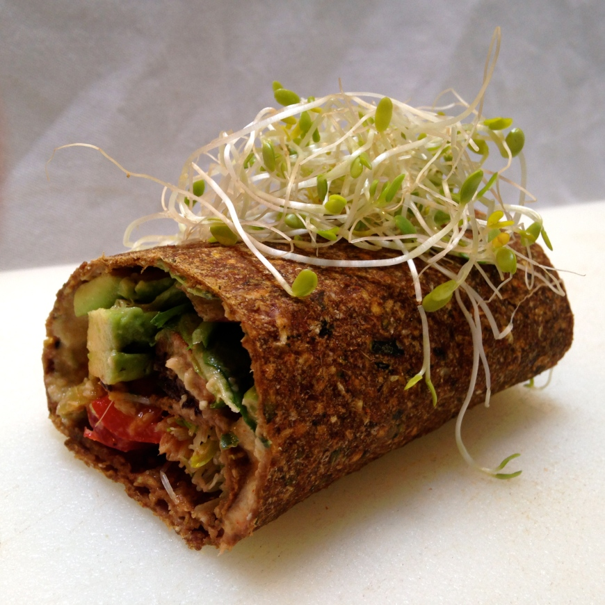 mediterranean avocado wrap