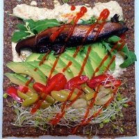 Deliciously Raw Summer Squash Hummus and a Mediterranean Avocado Wrap